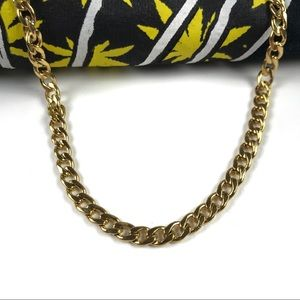 """Gold Necklace Curb Chain 💰 💎 23"""" necklace 5mm"""
